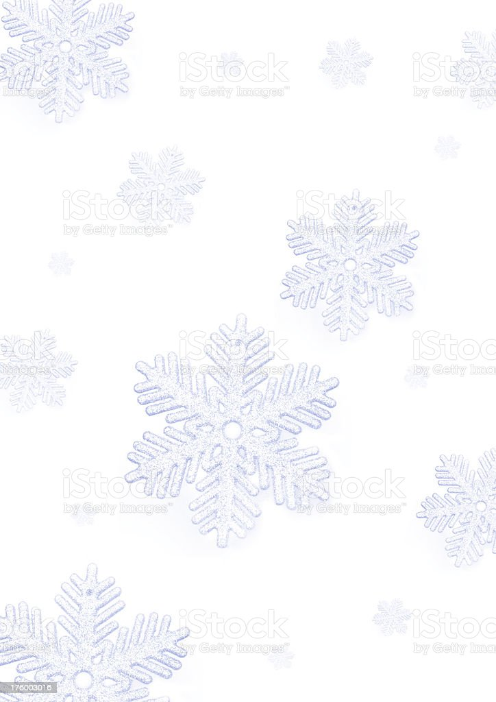 snow flakes falling royalty-free stock photo