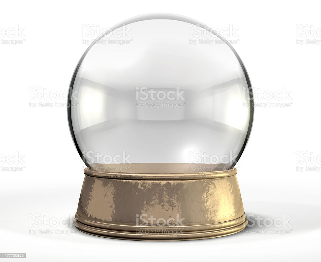 Snow Globe Crystal Ball Isolated stock photo