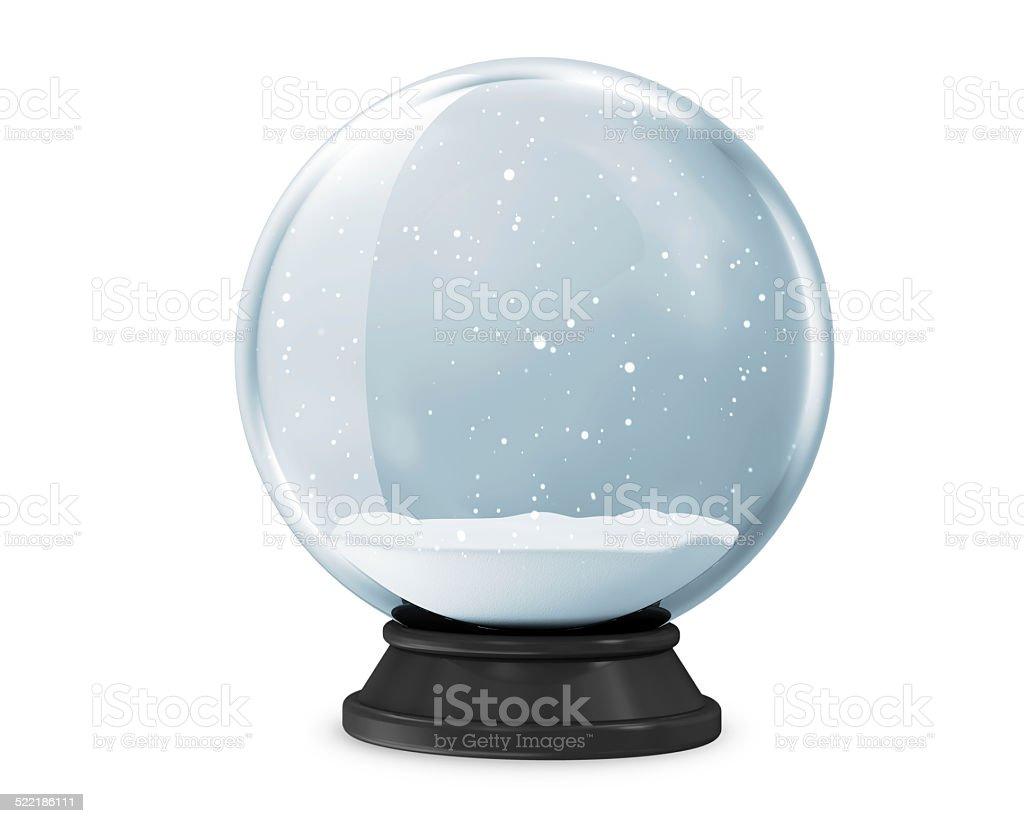 Snow Globe isolated on white background stock photo