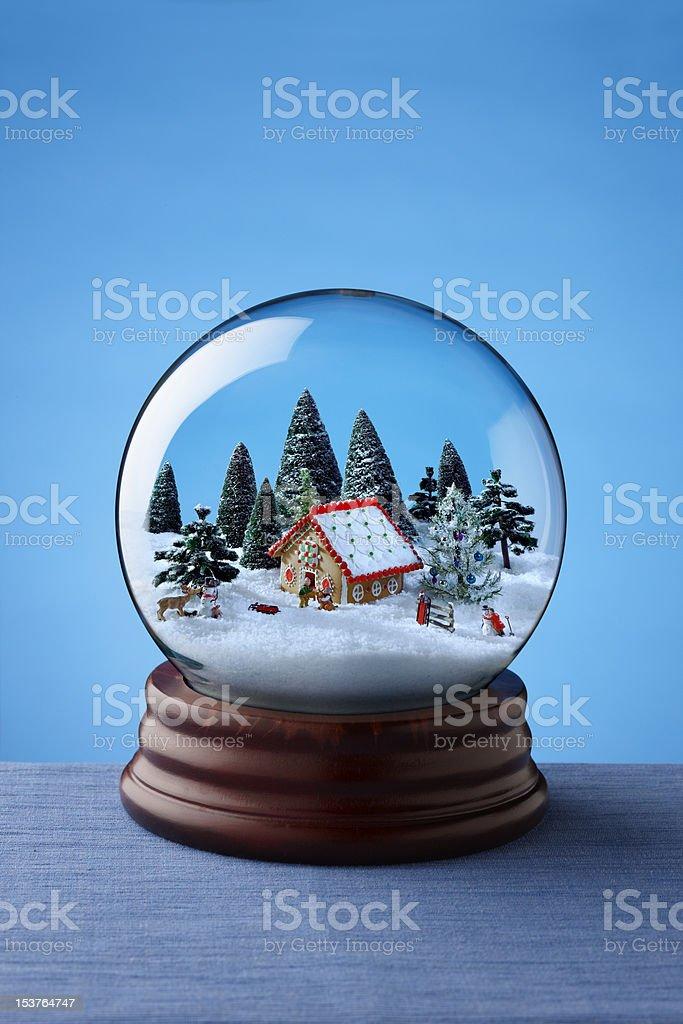 Snow globe stock photo