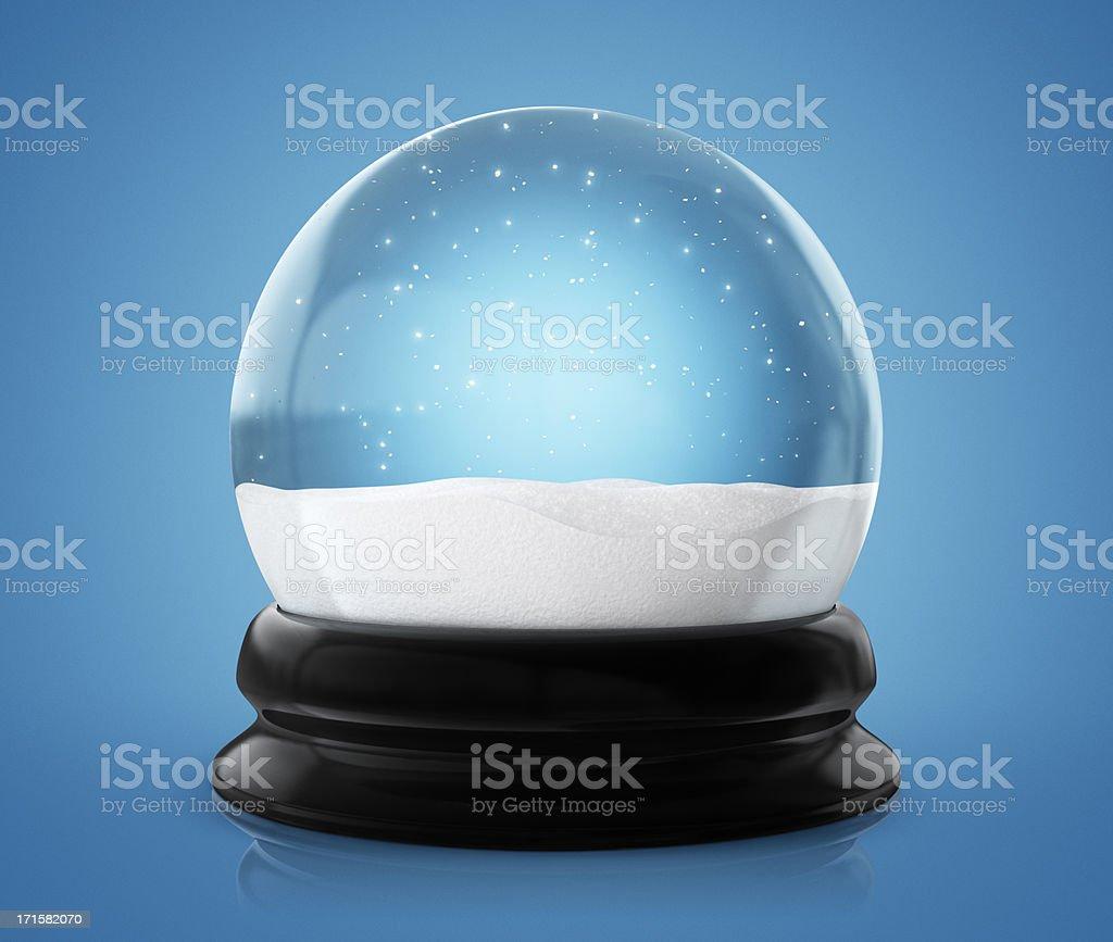 Snow globe Winter (Clipping Path) stock photo