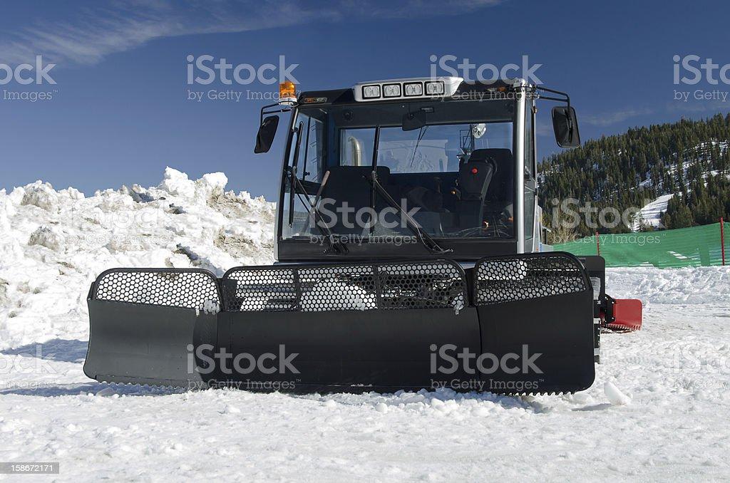 Snow groomer royalty-free stock photo