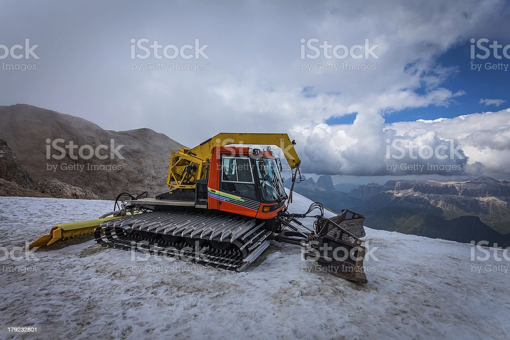 Snow groomer with standard equipment. royalty-free stock photo