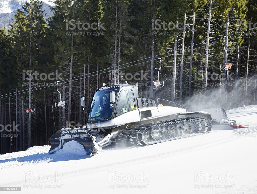 Snow grooming royalty-free stock photo