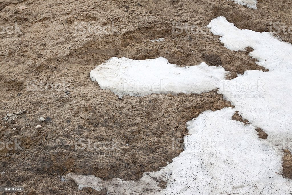 Snow & ground background royalty-free stock photo