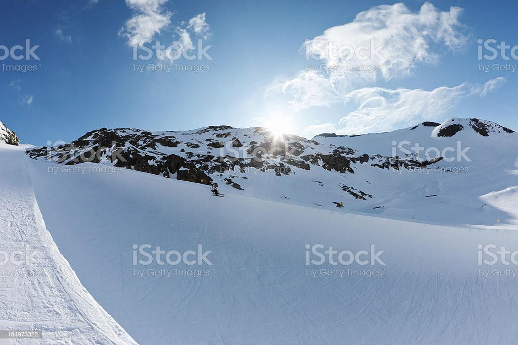 Snow Half Pipe stock photo