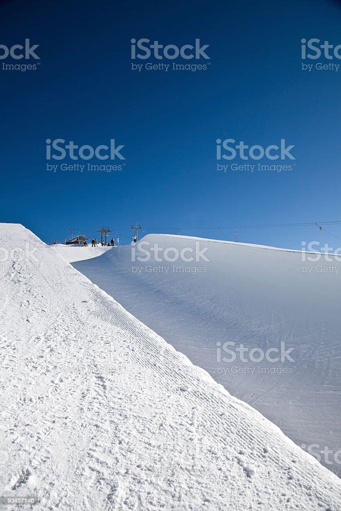 snow halfpipe stock photo