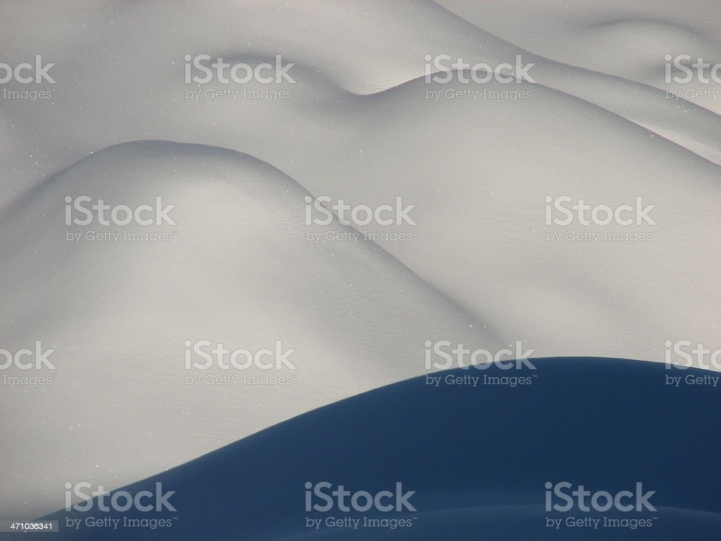 Snow hills royalty-free stock photo