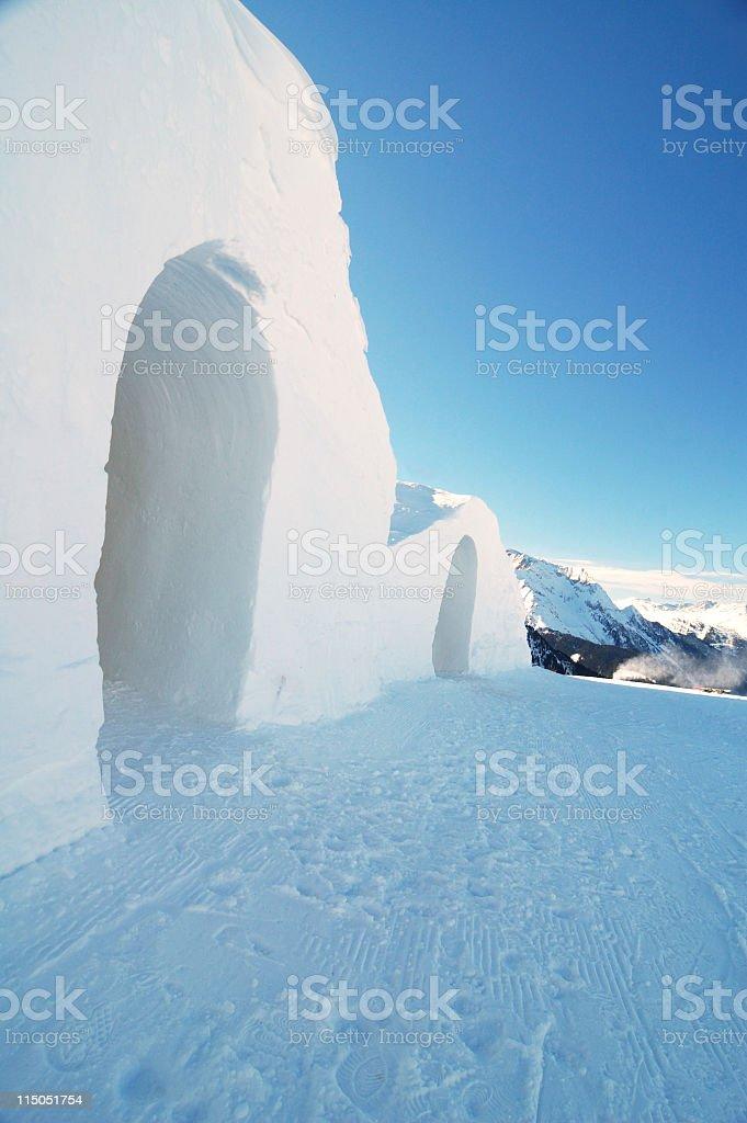 snow hotel royalty-free stock photo