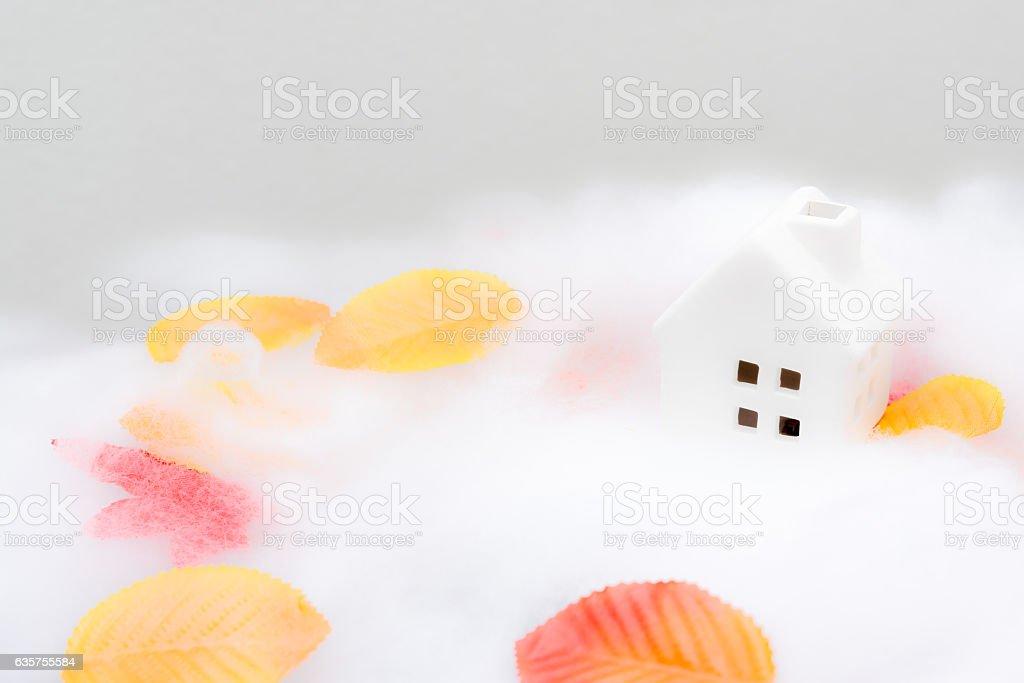 Snow house stock photo