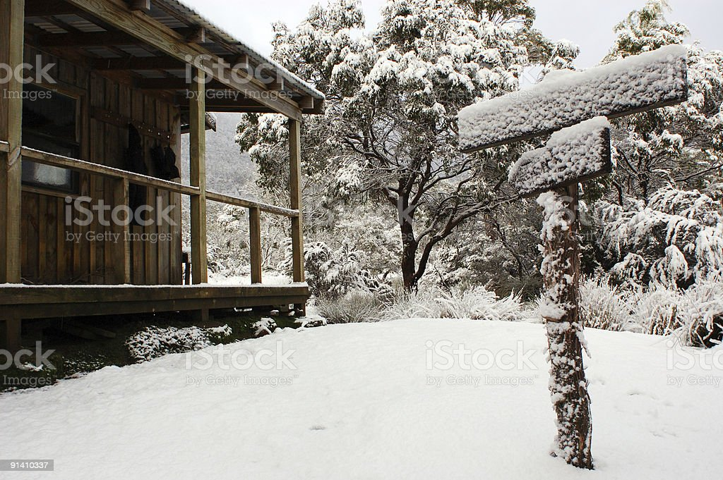 snow hut stock photo