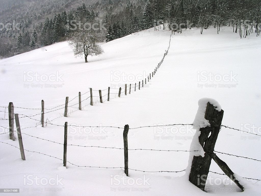 Snow in French Alps stock photo