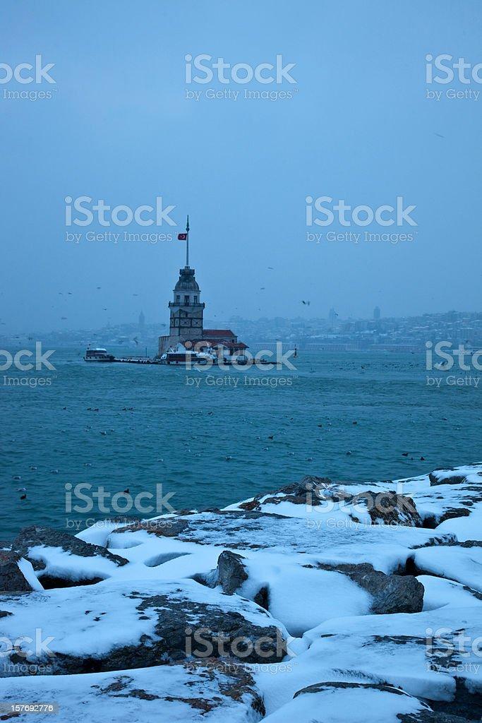 Snow in Istanbul stock photo