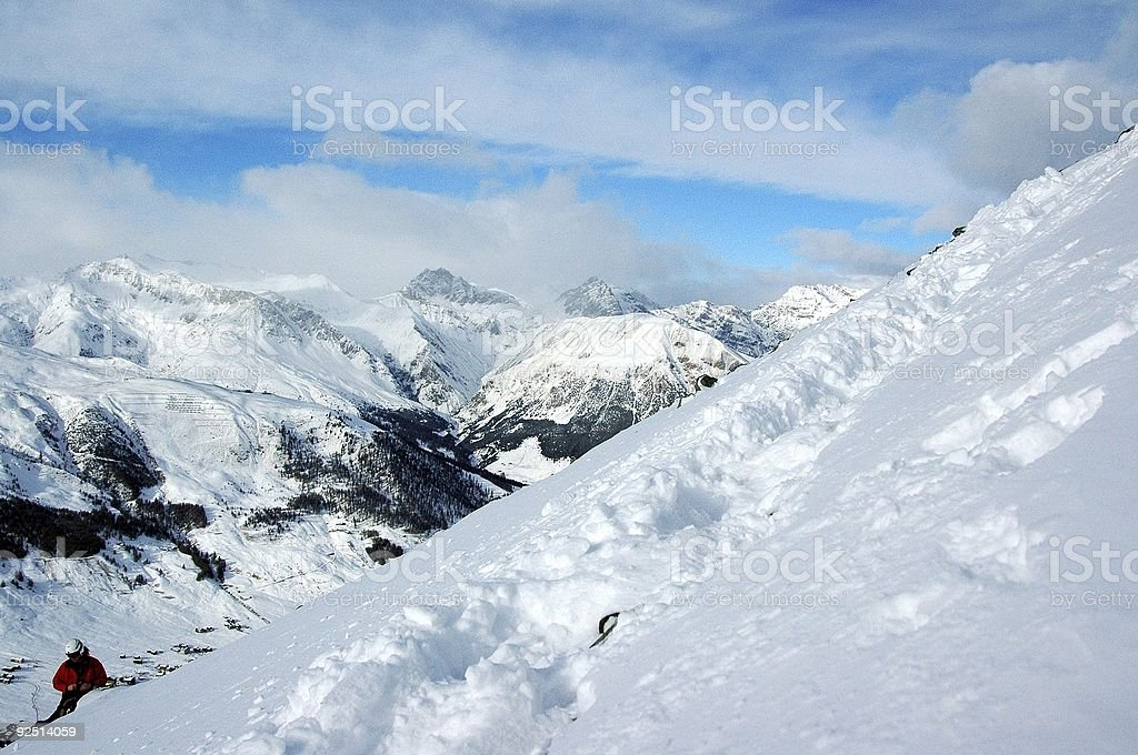 snow in mountains royalty-free stock photo