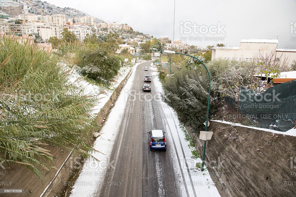 Snow in Sicily#2 stock photo