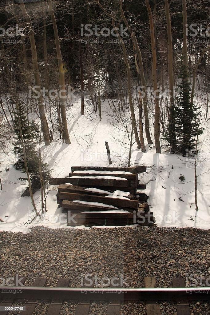 Snow in the rockies stock photo