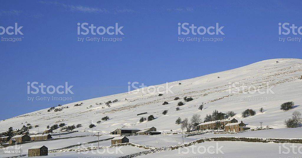 Snow in the Yorkshire Dales stock photo