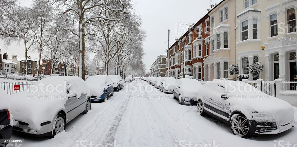 Snow in West London royalty-free stock photo