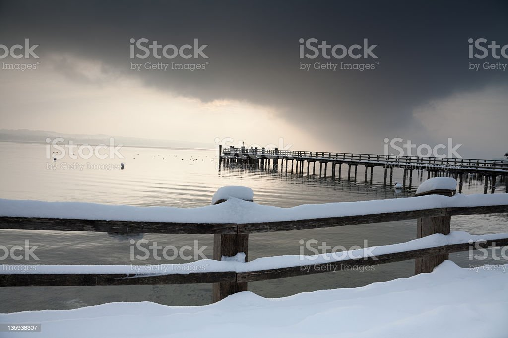 snow is coming soon royalty-free stock photo