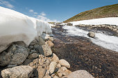 Snow is finally melting in Norwegian summer mountains