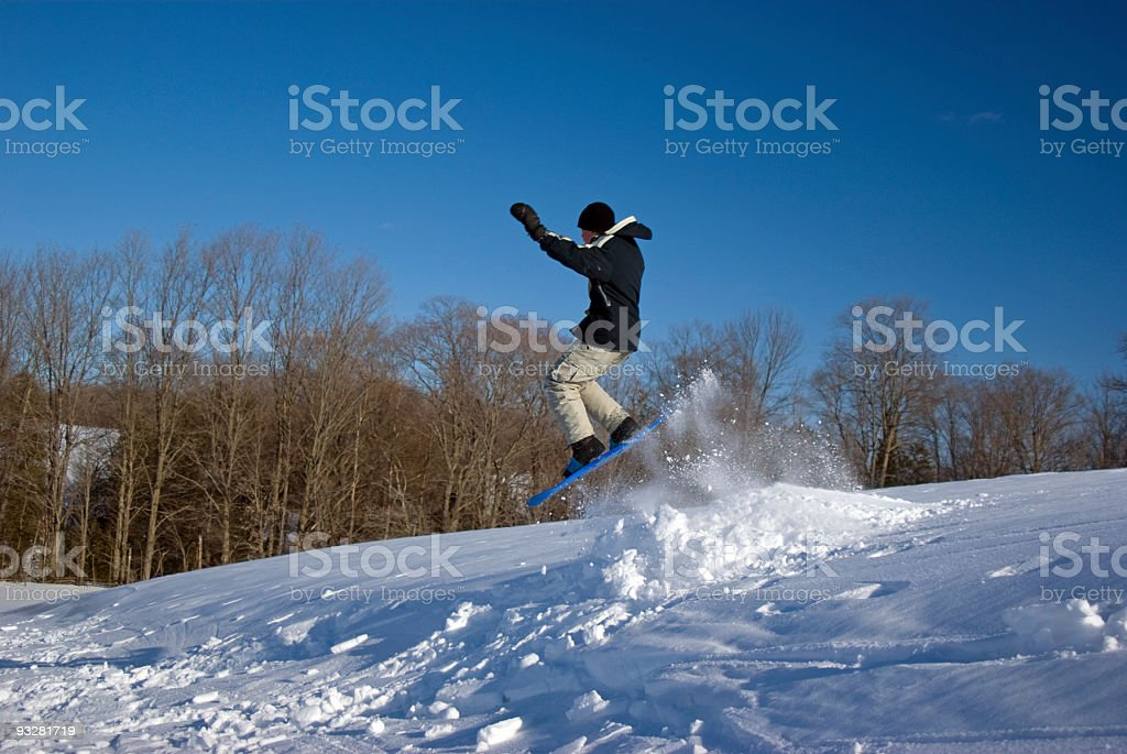 Snow Jump royalty-free stock photo