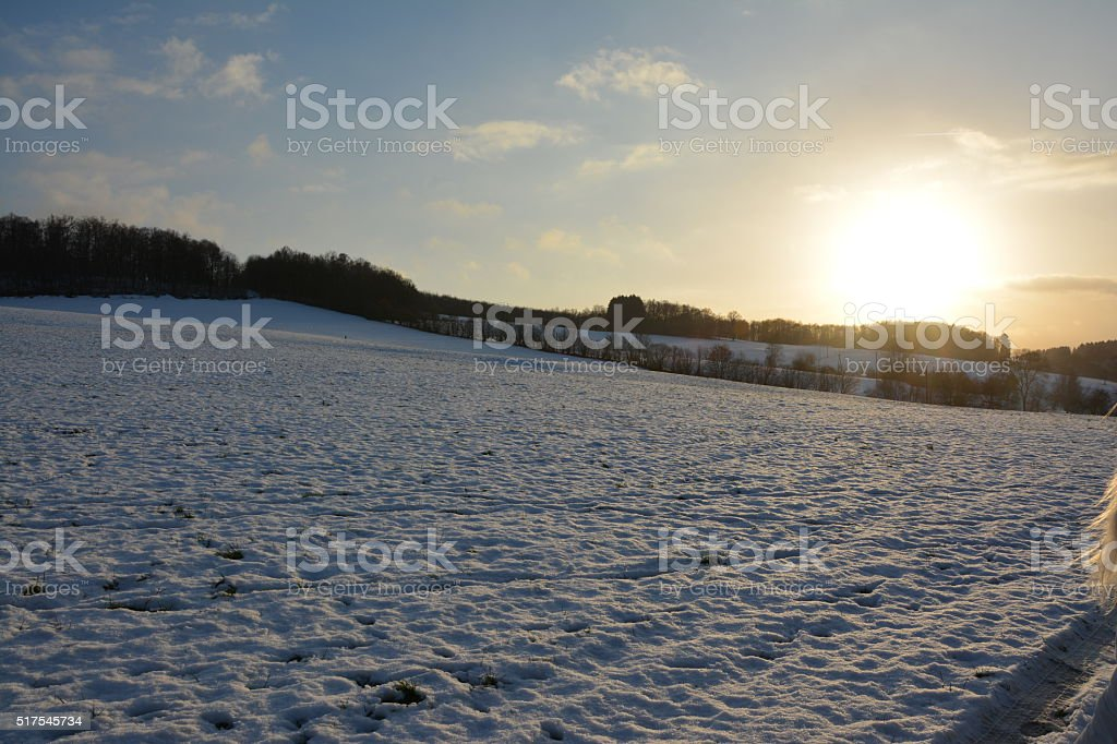 Schnee Landschaft stock photo