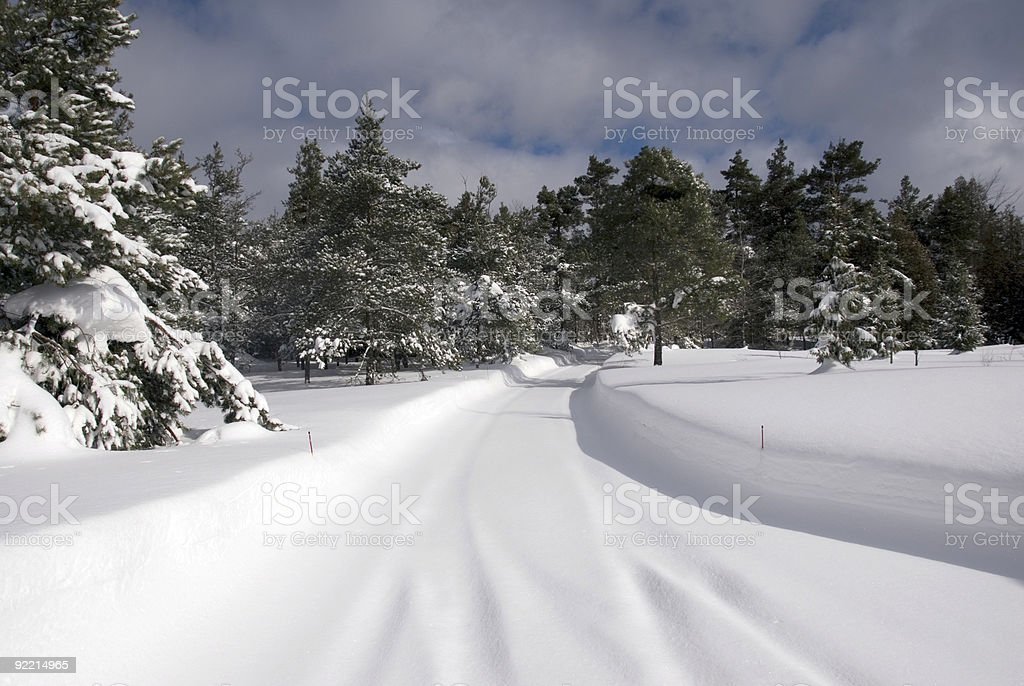Snow Lane royalty-free stock photo