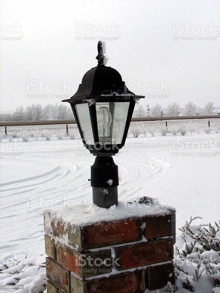 Snow Light royalty-free stock photo