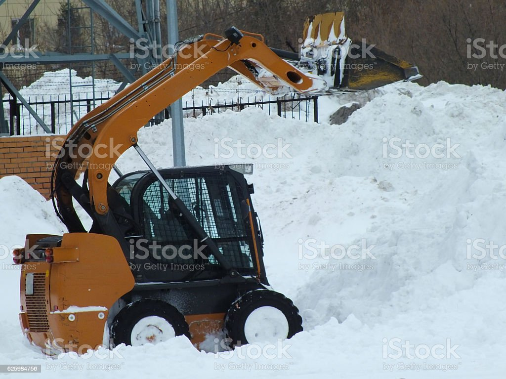 Snow loader stock photo