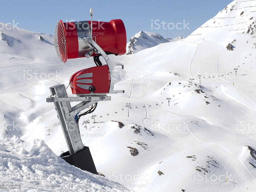 snow machine in the mountains royalty-free stock photo