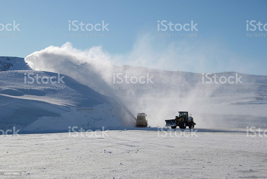 Snow machines royalty-free stock photo