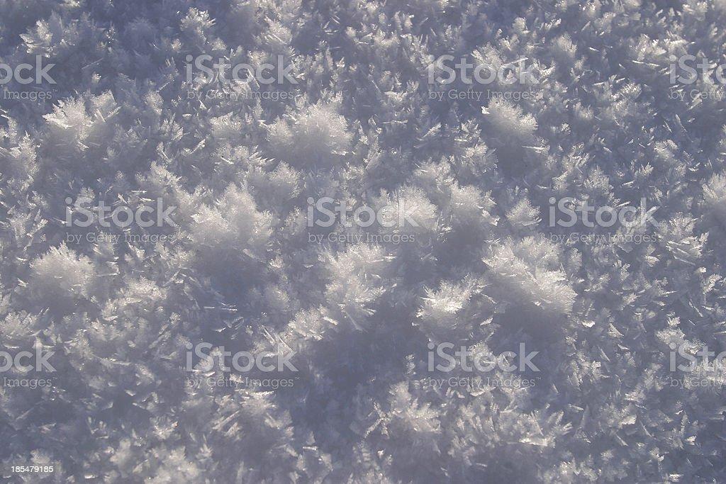 snow macro royalty-free stock photo