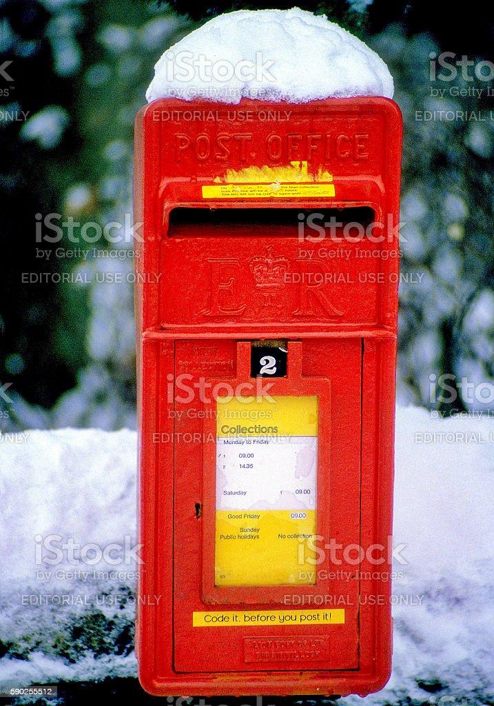 Snow mail stock photo