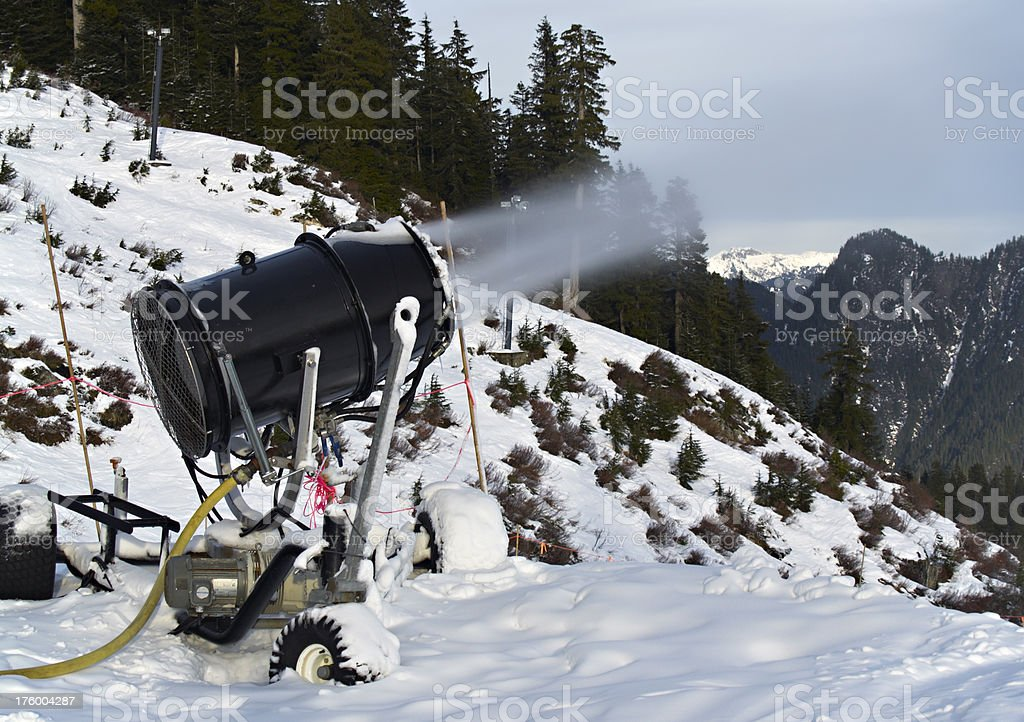 Snow Maker Machine royalty-free stock photo