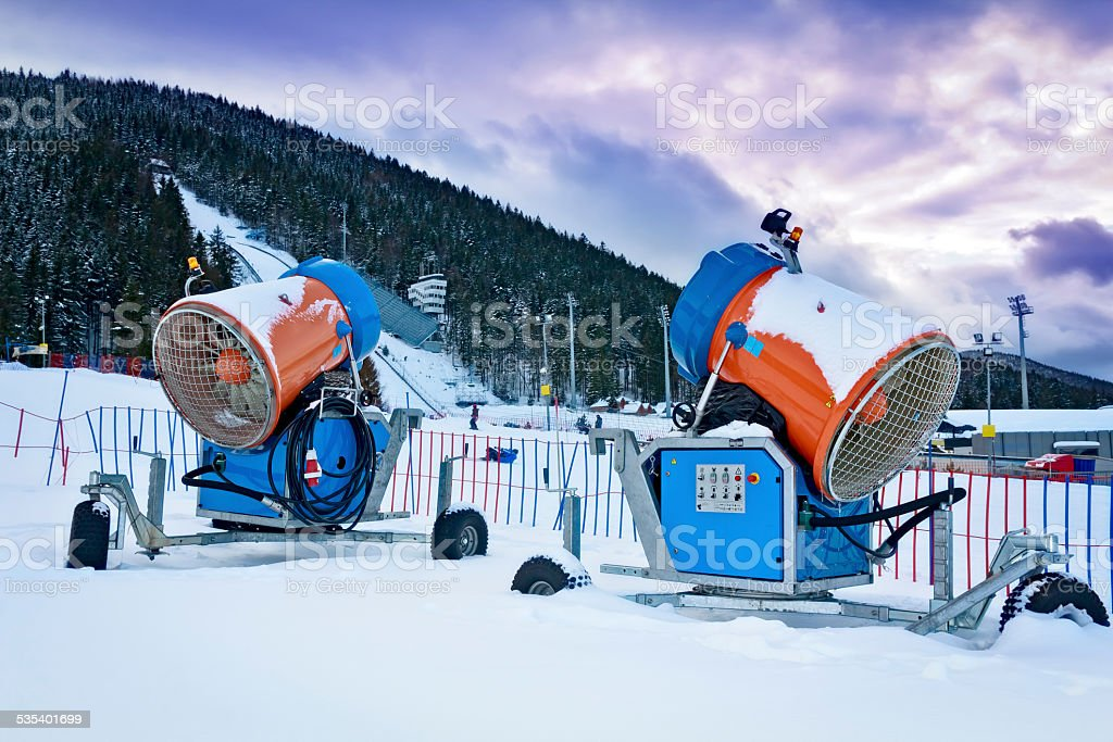 Snow Making Machines stock photo