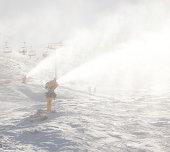 Snow making,Coronet Peak, Queenstown, New Zealand