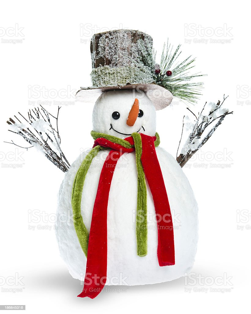 snow man stock photo