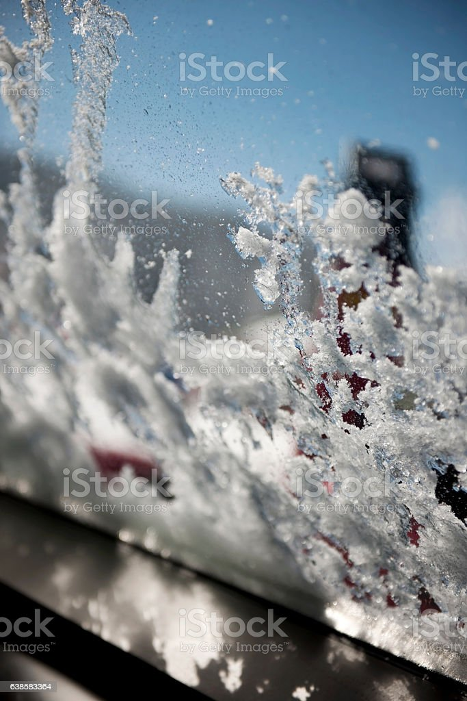 Snow melting stock photo