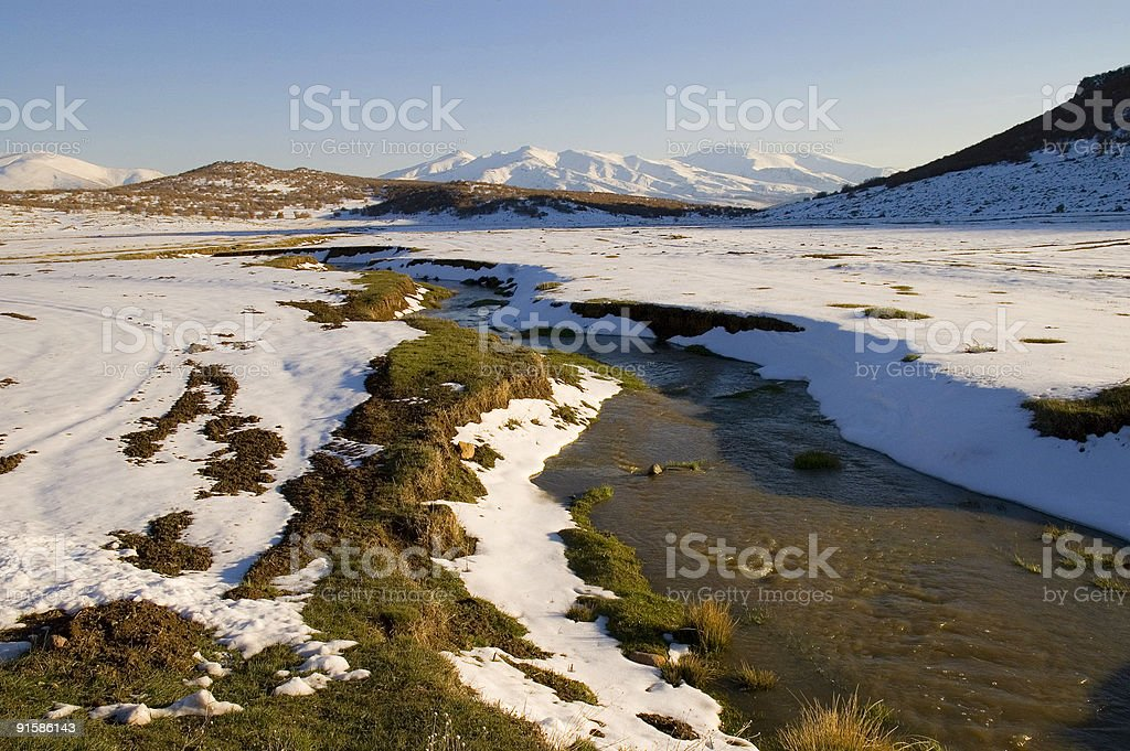 雪溶け ロイヤリティフリーストックフォト