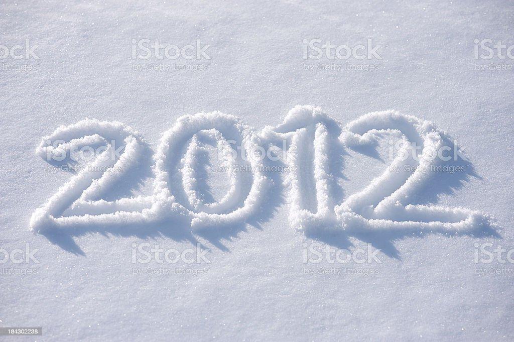 Snow Message 2012 royalty-free stock photo