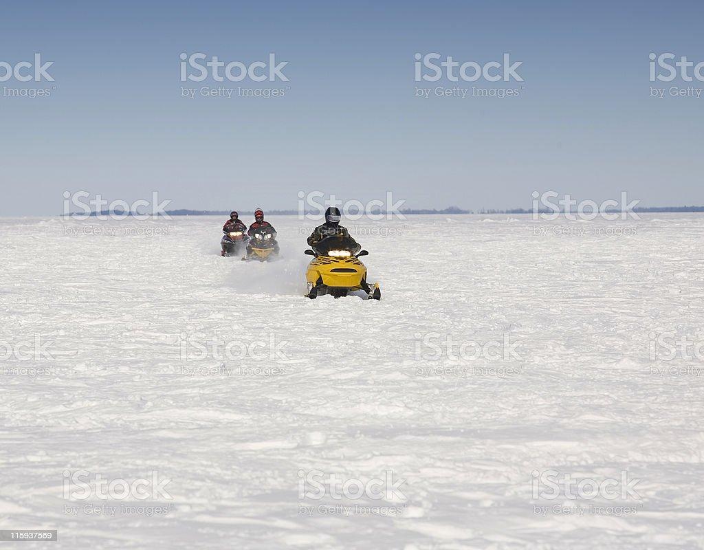 Snow Mobiles royalty-free stock photo