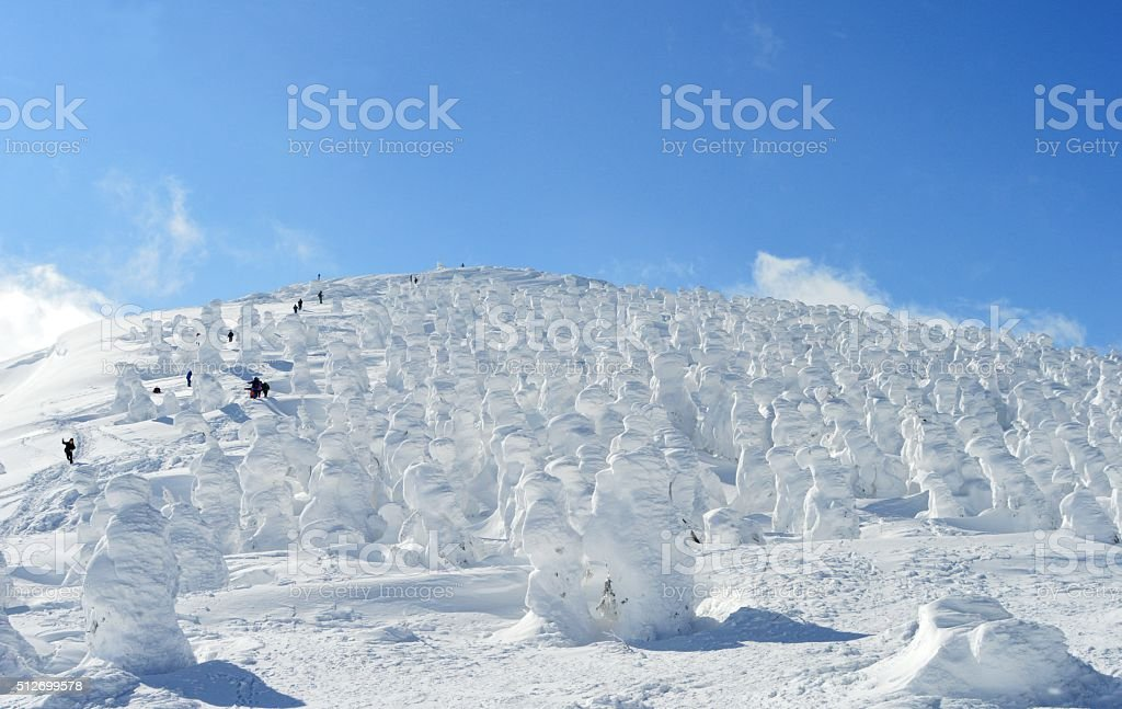 Snow monster in mount ZAO stock photo
