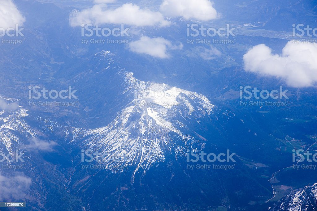 snow mountain from air royalty-free stock photo