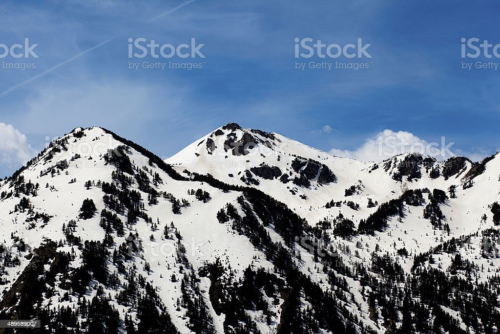 Snow Mountain Horitzontal stock photo