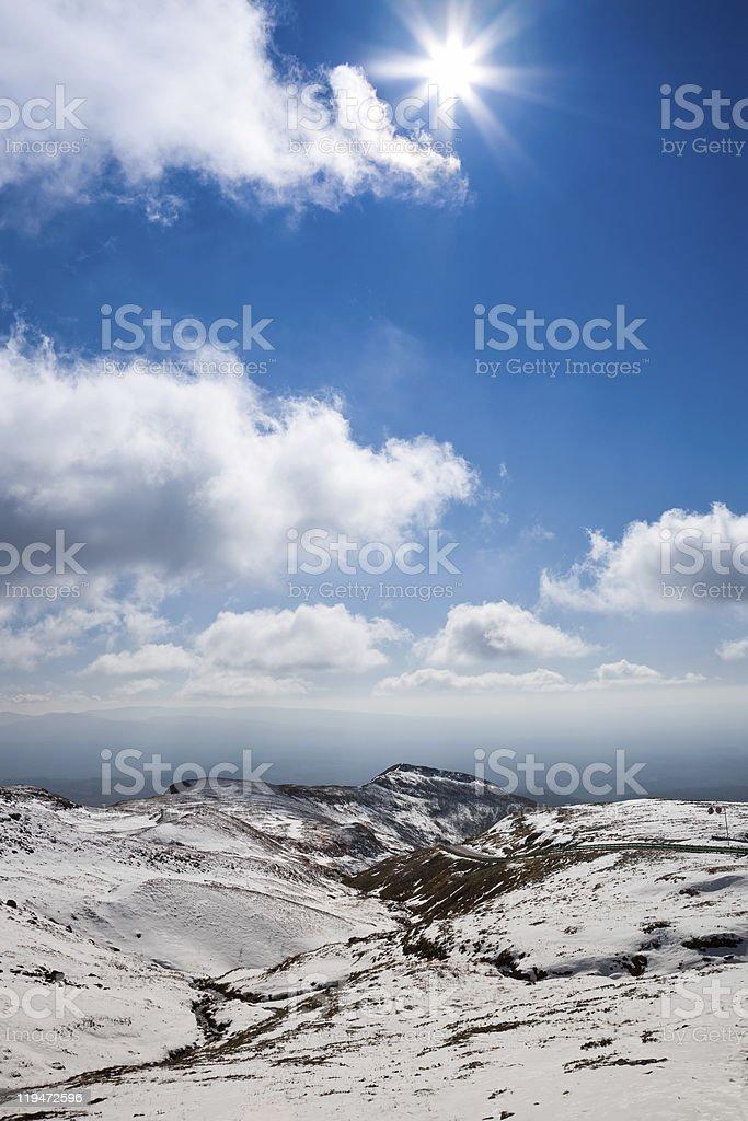snow mountain landscape royalty-free stock photo