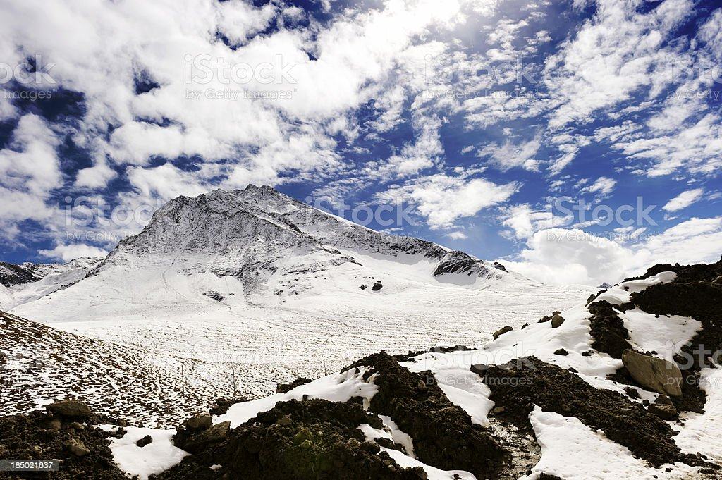 snow mountain royalty-free stock photo