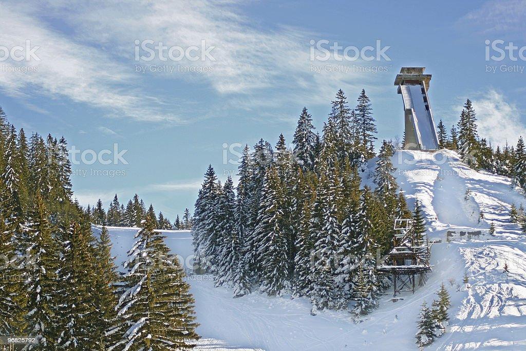 Snow Mountain stock photo