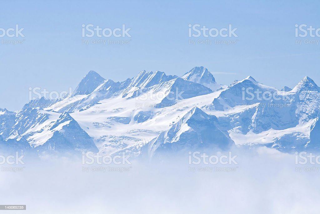 Snow Mountain Pilatus Lucern royalty-free stock photo
