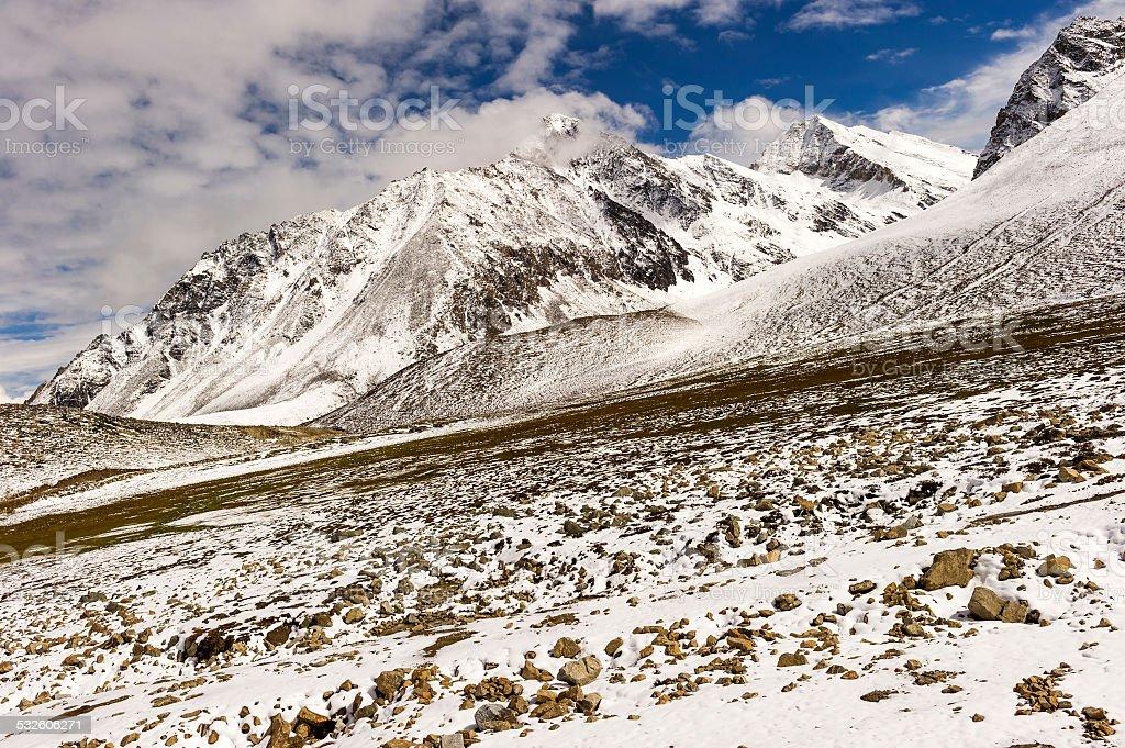 snow mountain,in Tibet of China stock photo