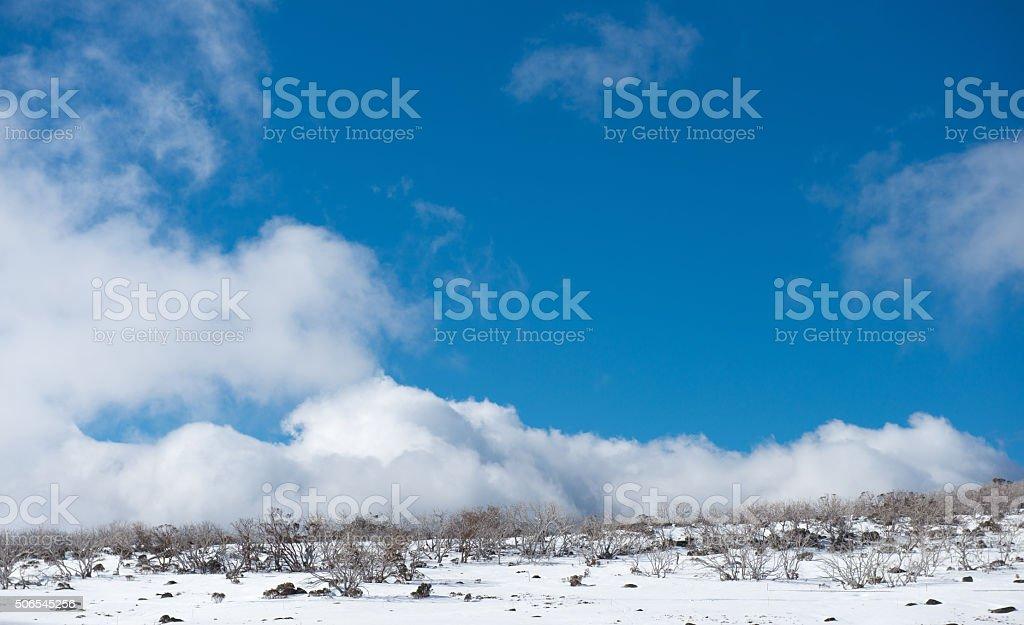 Snow moutains in Kosciuszko National Park, Australia stock photo